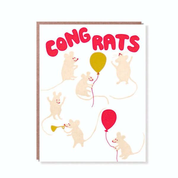 Egg Press Greeting Card | Cong-Rats | Smack Bang