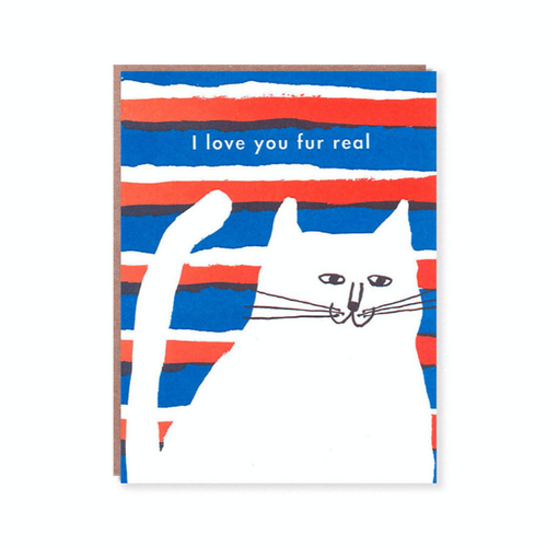 Egg Press Greeting Card | I Love You Fur Real | Smack Bang