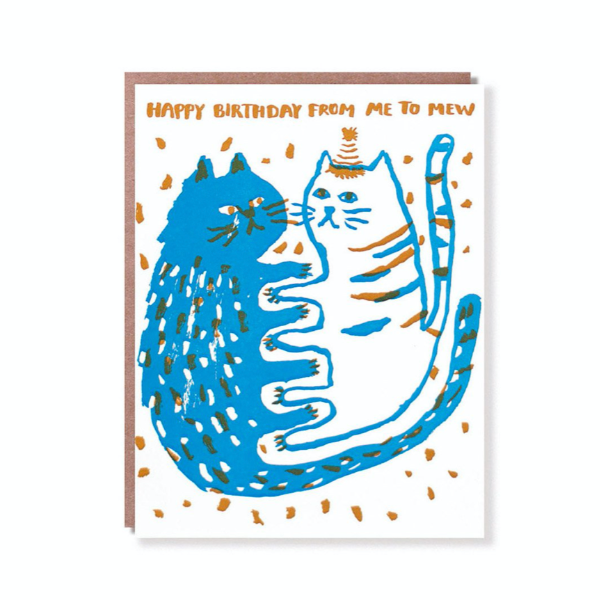 Egg Press Greeting Card | Happy Birthday Me to Mew | Smack Bang