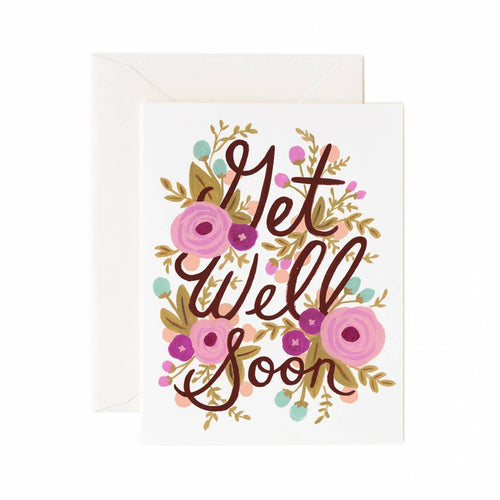 Rifle Paper Co Greeting Card Floral Get Well Soon | Smack Bang