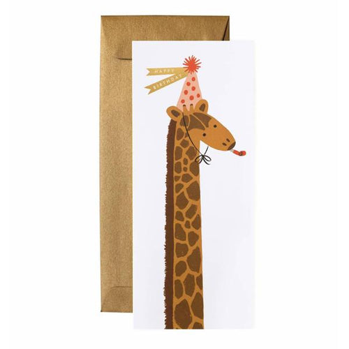 Rifle Paper Co Long Greeting Card Giraffe Happy Birthday SMACK BANG