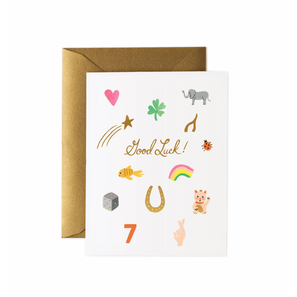 Rifle Paper Co Greeting Card Good Luck Charms | Smack Bang