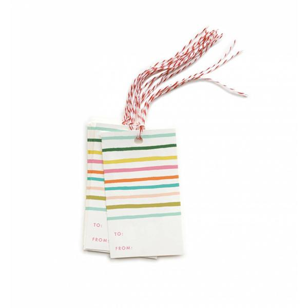 Rifle Paper Co Gift Tags Pack 10 Happy Stripe | Smack Bang