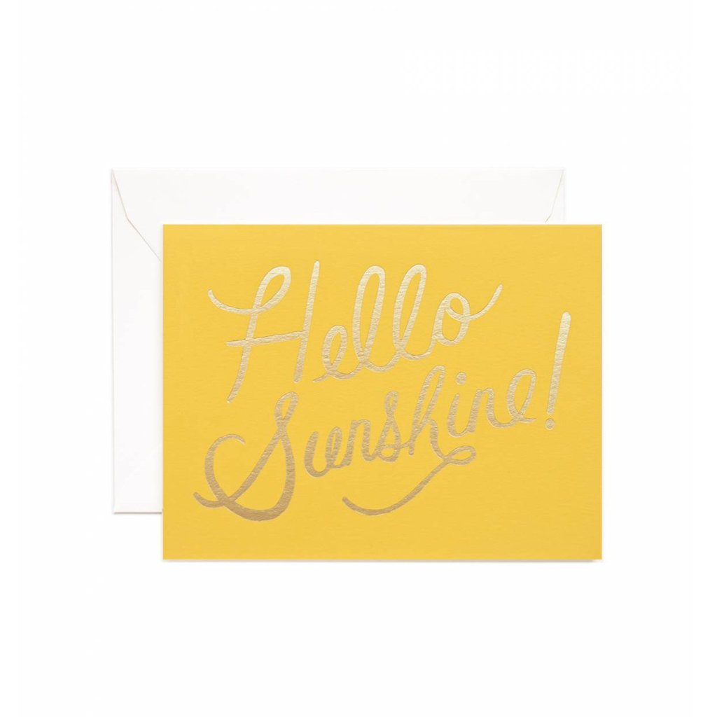 Rifle Paper Co Hello Sunshine Greeting Card Yellow and Gold | Smack Bang