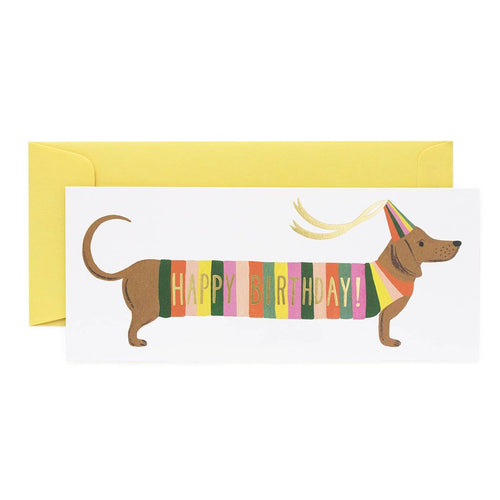 Rifle Paper Co Greeting Card Hot Dog No.10 Happy Birthday SMACK BANG