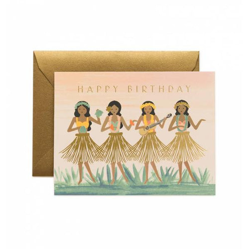 Rifle Paper Co Greeting Card Hula Happy Birthday SMACK BANG
