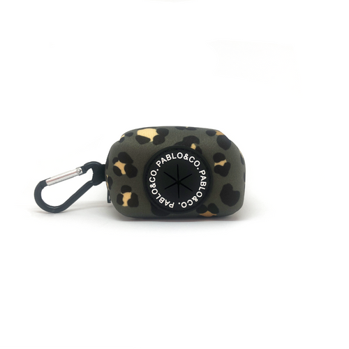 Pablo & Co Khaki Leopard Poop Bag Holder | Smack Bang