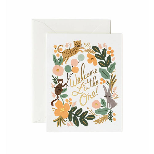 Rifle Paper Co Menagerie Baby Greeting Card Welcome Little One | Smack Bang