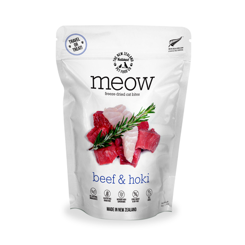 The New Zealand Natural Pet Food Co Meow Beef & Hoki Cat Bites | Smack Bang
