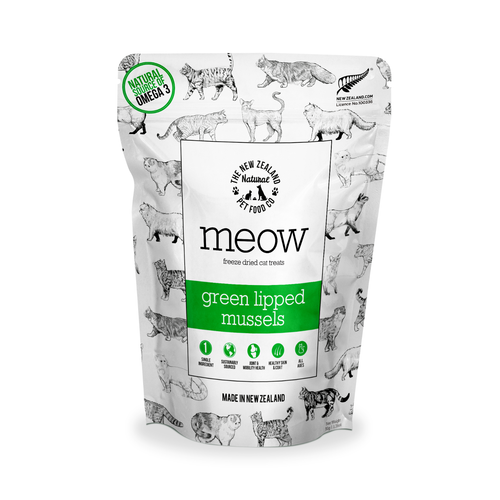 The NZ Natural Pet Food Co Meow Green Lipped Mussels Cat Treats | Smack Bang