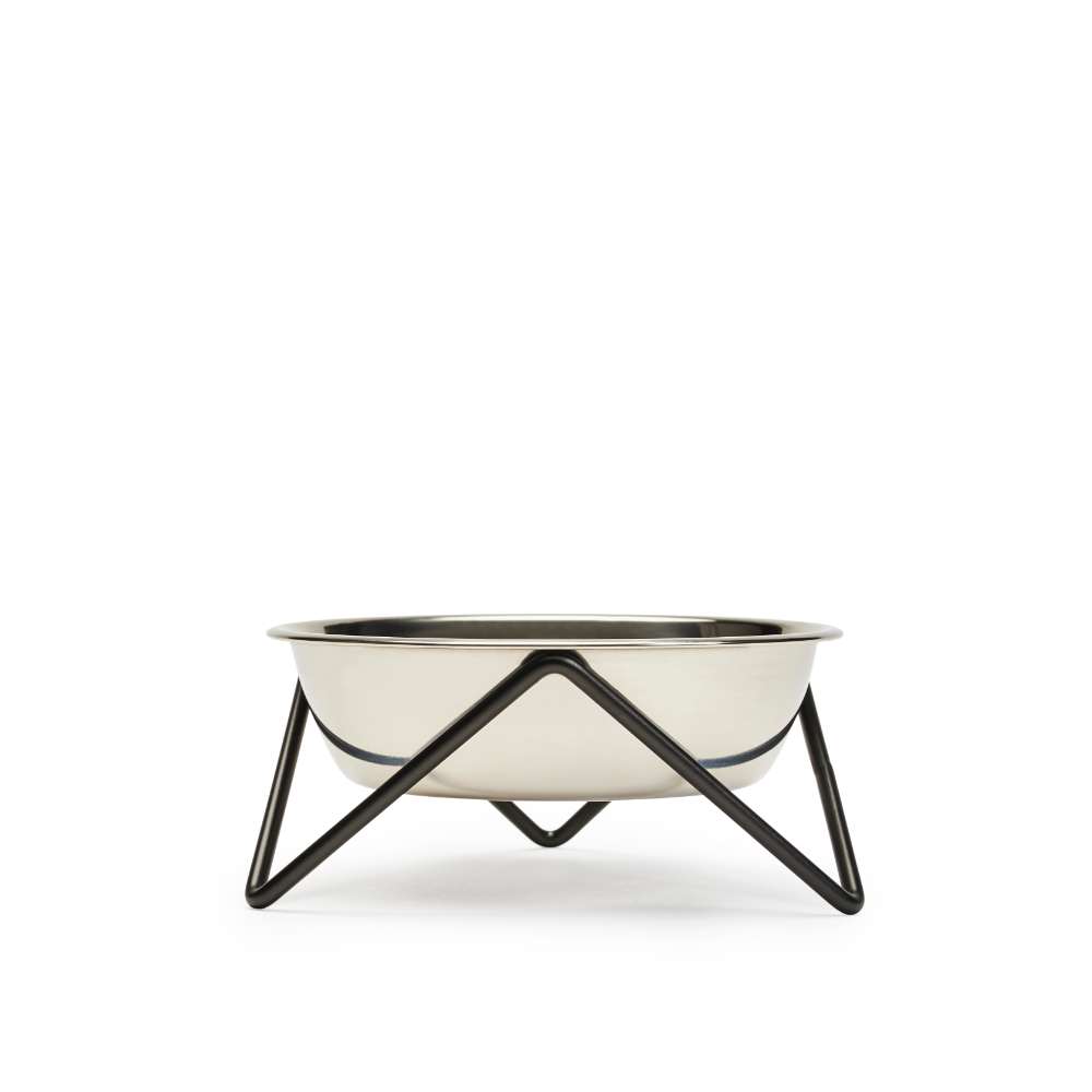Bendo Luxe Meow Raised Cat Bowl | Black | Smack Bang