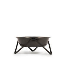 Bendo Luxe Meow Raised Cat Bowl | Black on Black | Smack Bang