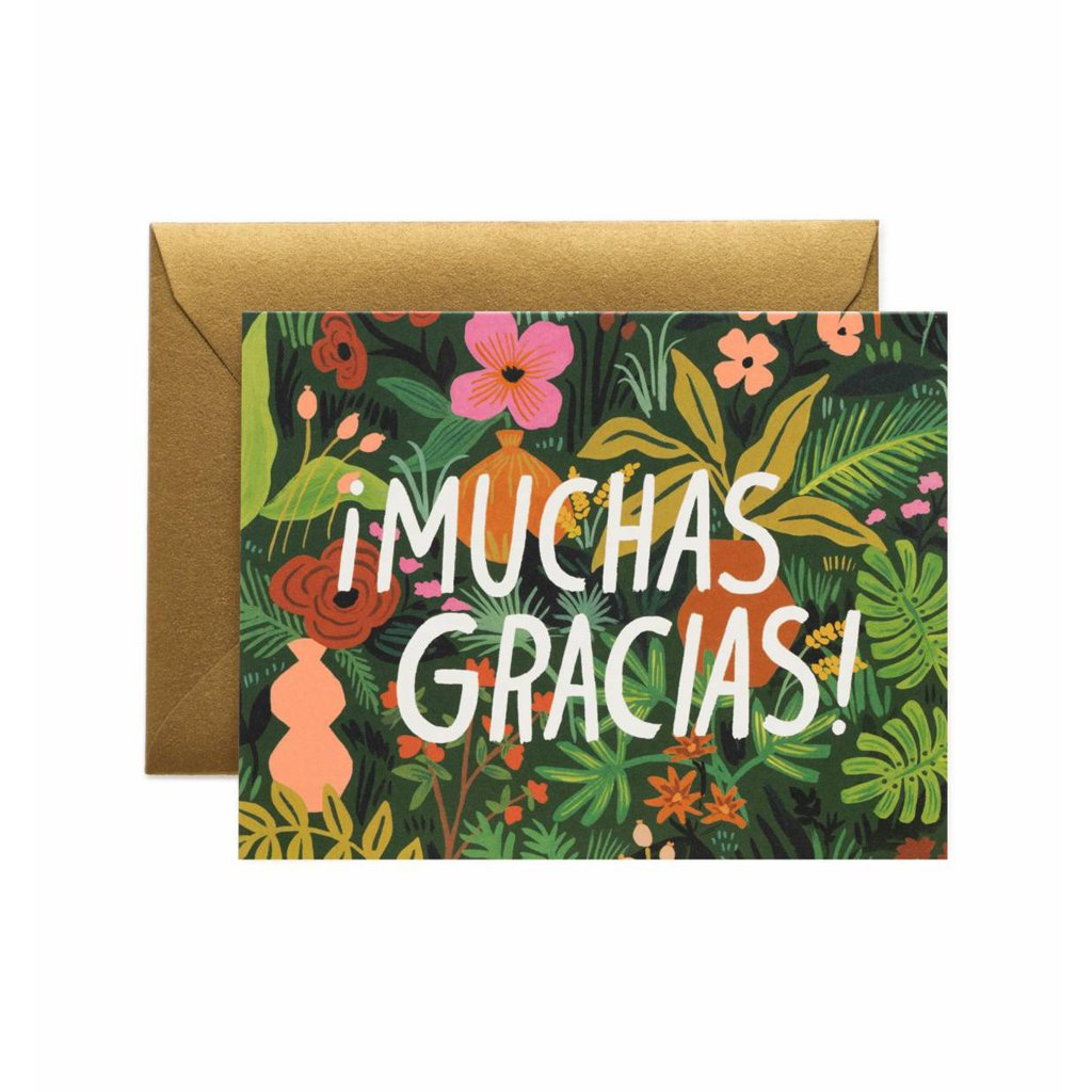Rifle Paper Co Muchas Gracias Thank You Greeting Card SMACK BANG