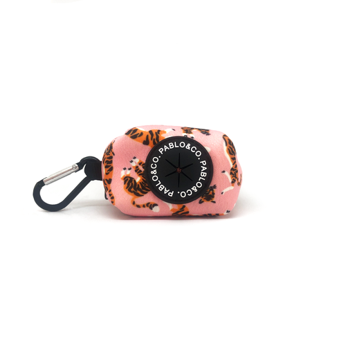 Pablo & Co Pink Tigers Poop Bag Holder | Smack Bang