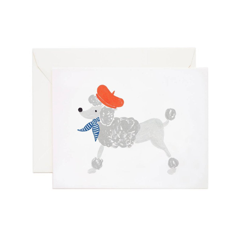 Rifle Paper Co Dog Greeting Card French Poodle SMACK BANG