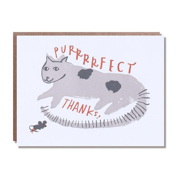 Egg Press Greeting Card Cat Thank You Purrrfect Thanks SMACK BANG