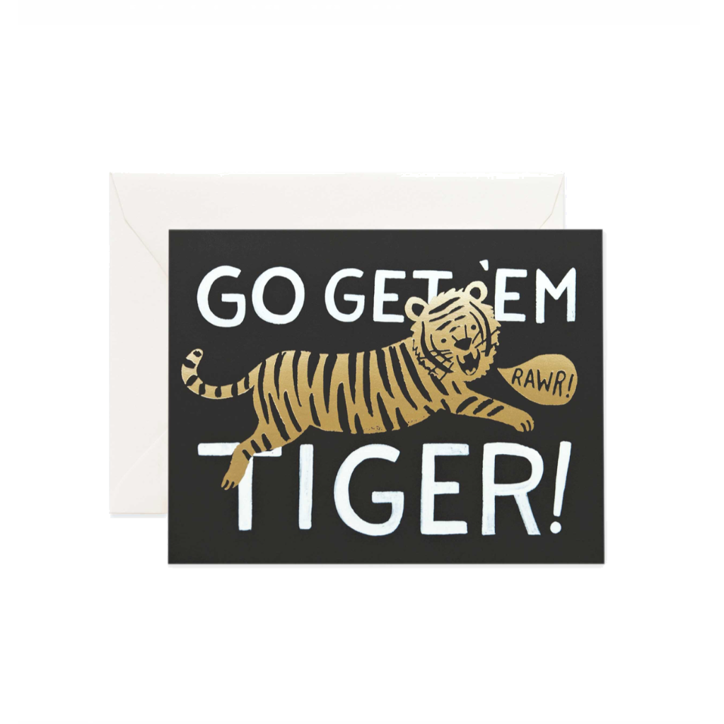 Rifle Paper Co Greeting Card | Go Get Em Tiger | Smack Bang