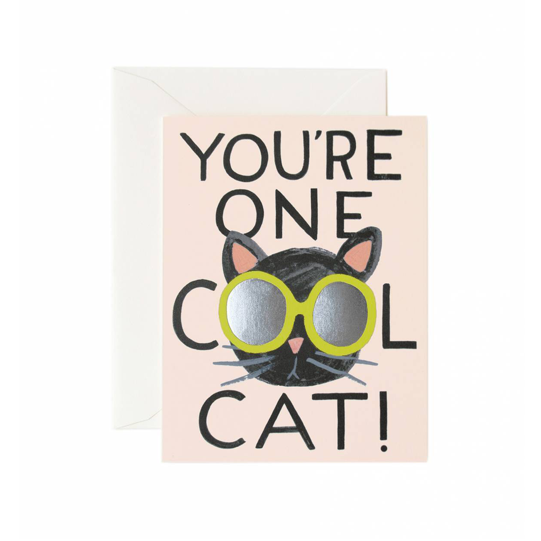Rifle Paper Co Greeting Card You're One Cool Cat SMACK BANG
