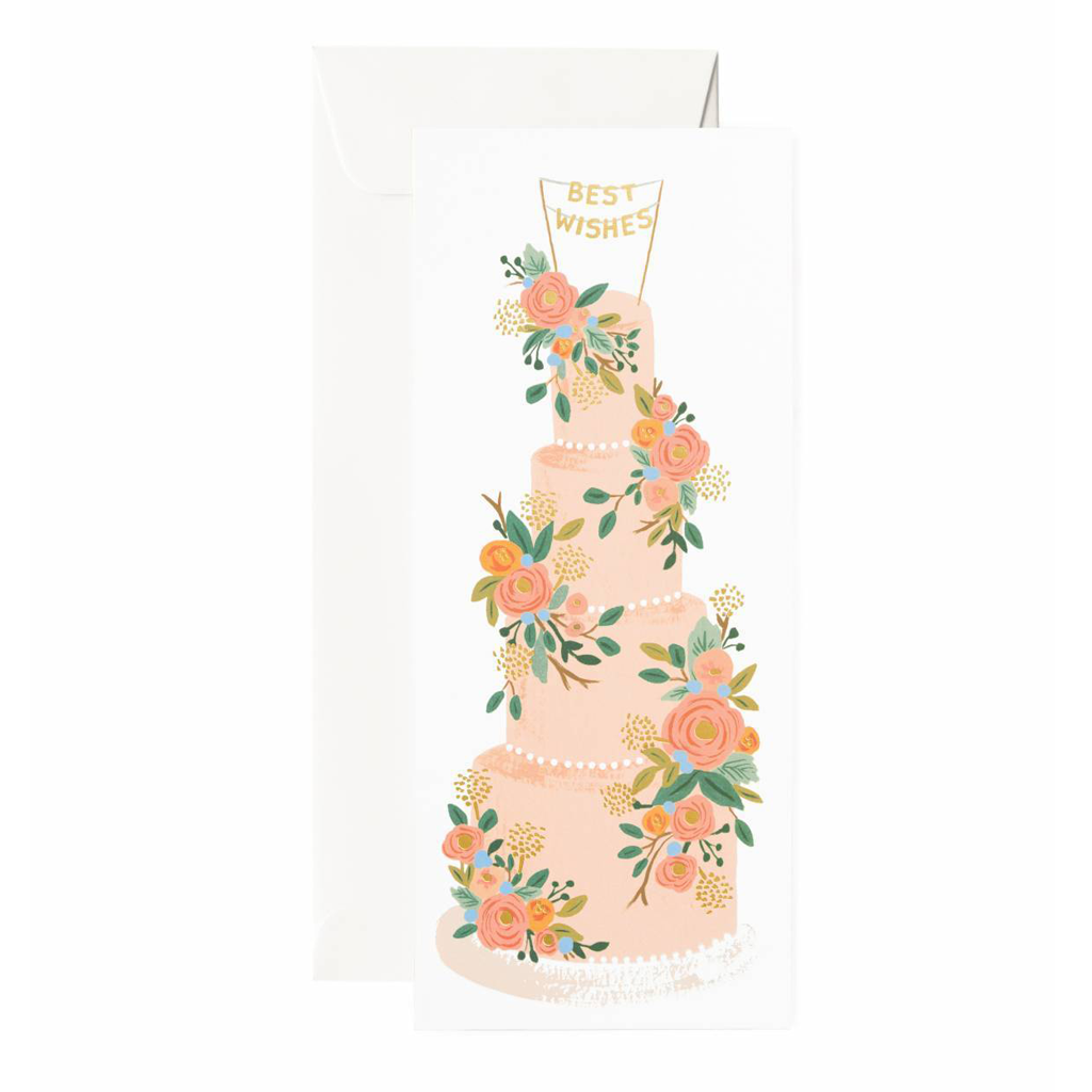 Rifle Paper Co Long Card Tall Wedding Cake Best Wishes SMACK BANG