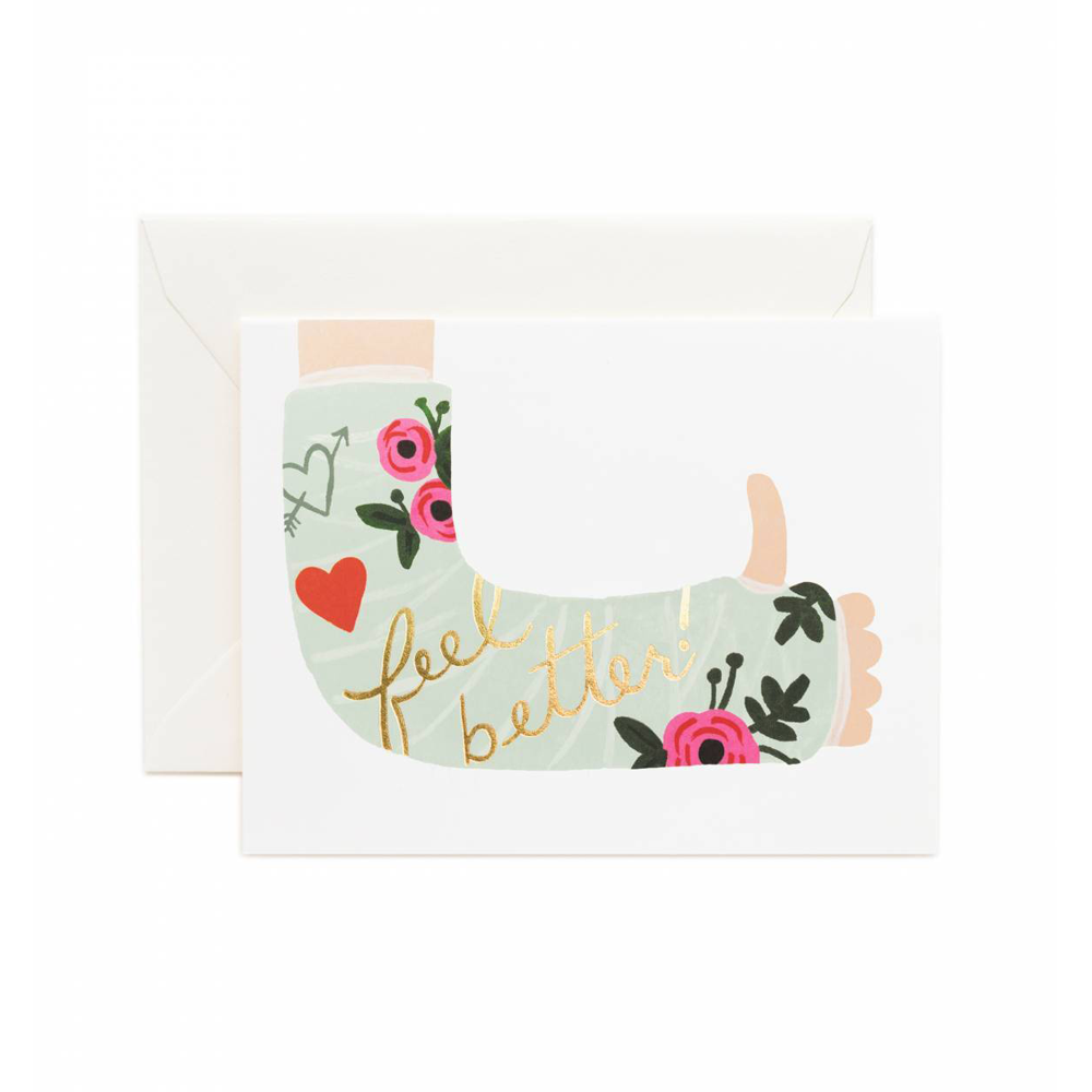 Rifle Paper Co Greeting Card Feel Better Get Well Soon | Smack Bang