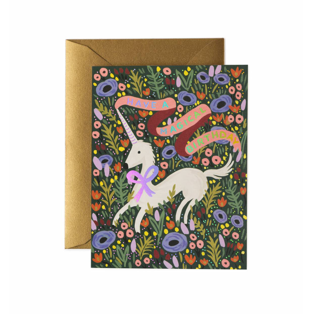 Rifle Paper Co Greeting Card Unicorn Magical Happy Birthday SMACK BANG