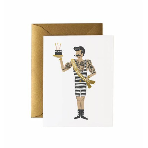 Rifle Paper Co Greeting Card Strongman Happy Birthday | Smack Bang