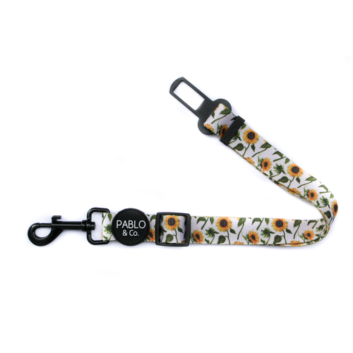 Pablo & Co Sunflowers Adjustable Car Restraint / Dog Seat Belt | Smack Bang