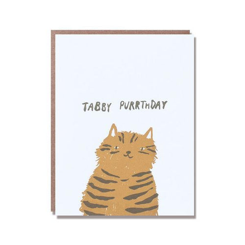 Egg Press Greeting Card Tabby Purrthday Happy Birthday SMACK BANG