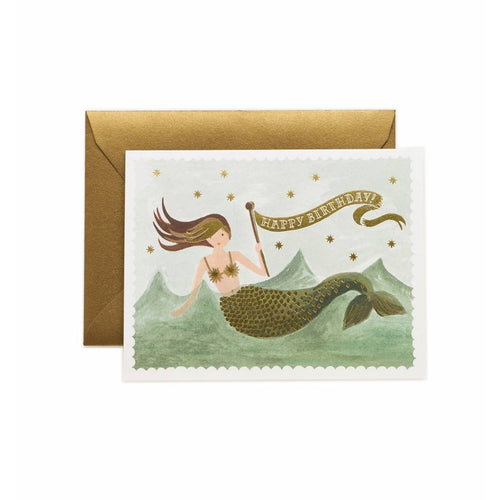Rifle Paper Co Vintage Mermaid Happy Birthday Greeting Card | Smack Bang