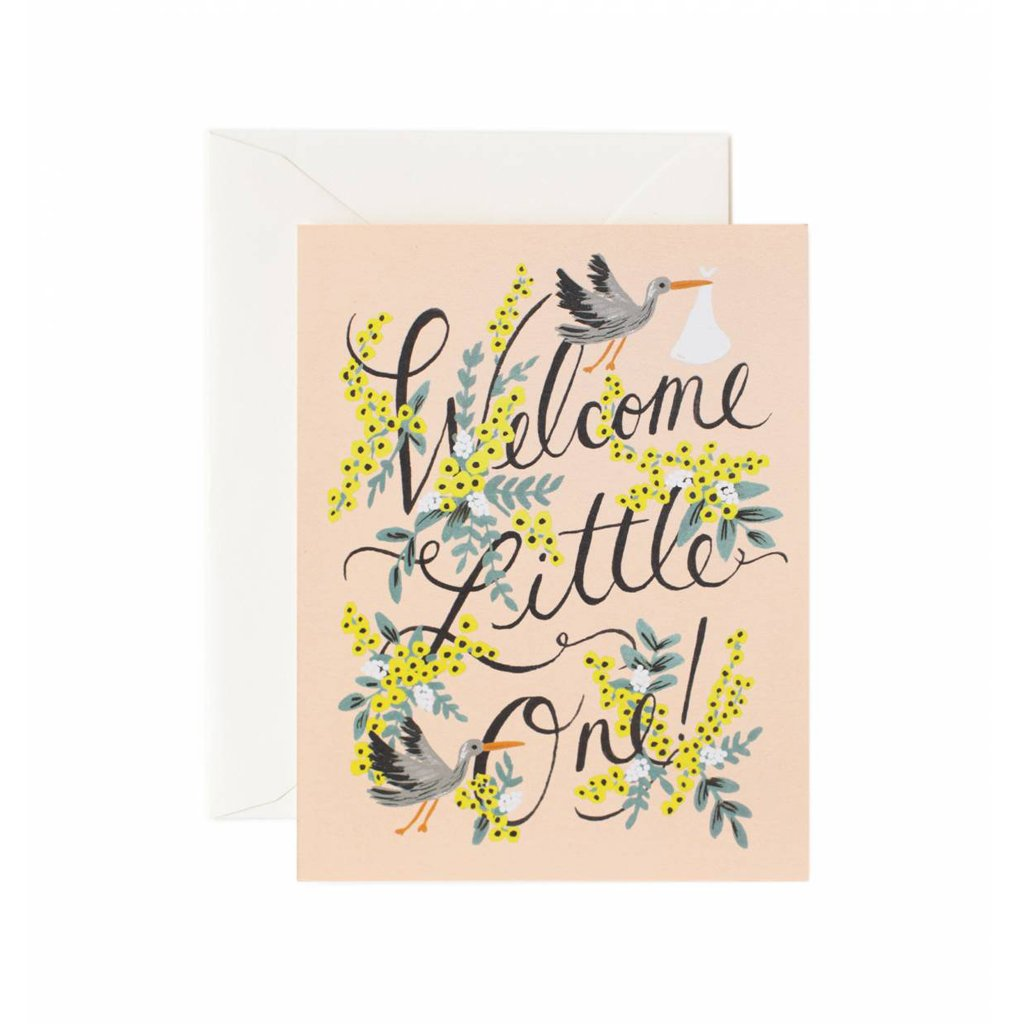 Rifle Paper Co Welcome Little One Baby Greeting Card | Smack Bang