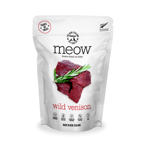 The NZ Natural Pet Food Co Meow Wild Venison Cat Treats | Smack Bang