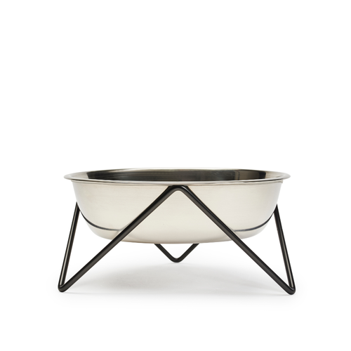 Bendo Luxe Woof Raised Dog Bowl Black | Smack Bang