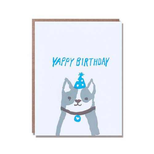 Egg Press Greeting Card Yappy Happy Birthday Dog | Smack Bang