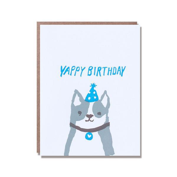 Egg Press Greeting Card Yappy Happy Birthday Dog SMACK BANG