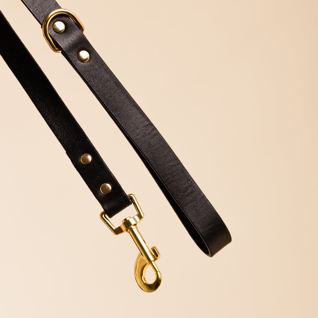 Ollie & James Sable Leather Dog Lead | Smack Bang