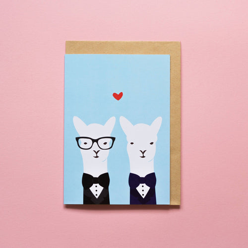 Alice Berry Greeting Card Mr & Mr Llama Gay Wedding | Smack Bang