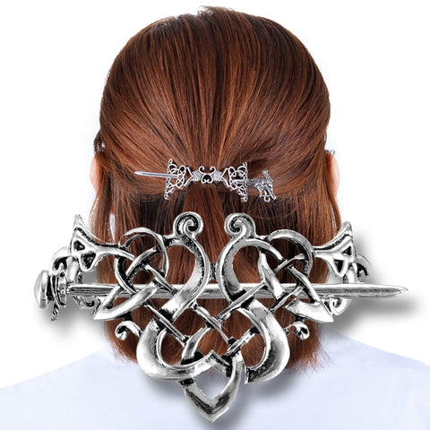 Cosplay - Broche à cheveux Viking