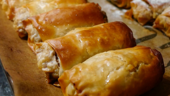 Healthy Chicken Filo Rolls