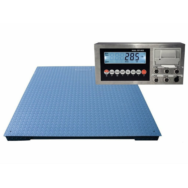 "OPTIMA Heavy Duty Industrial Floor scale 7' x 7' / 84"" 20,000 lbs x 5 lb"