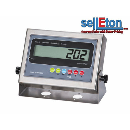 NEW PS-IN202SS-C LCD Indicator with 2 Rs-232 ports /Floor or Truck scale base - SellEton Scales