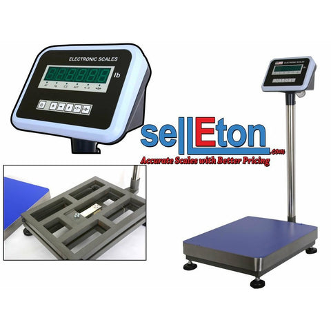 "Z-B600-1620   16"" x 20"" Industrial Shipping postal Warehouse / Bench scale 600 lbs x 0.02 lb"