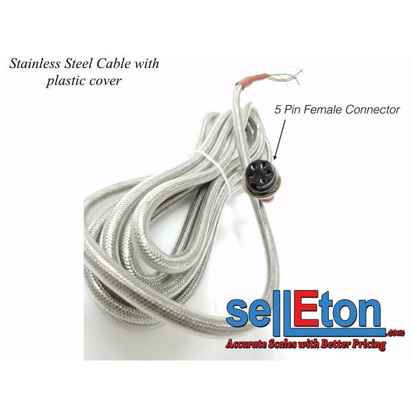 OP-410 Stainless Steel female connector cable Optima & other indicators Scale - SellEton Scales