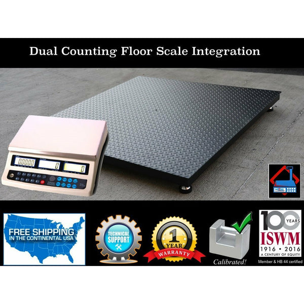 "NEW 4'x4' (48""x48"") Dual counting Floor Scale 