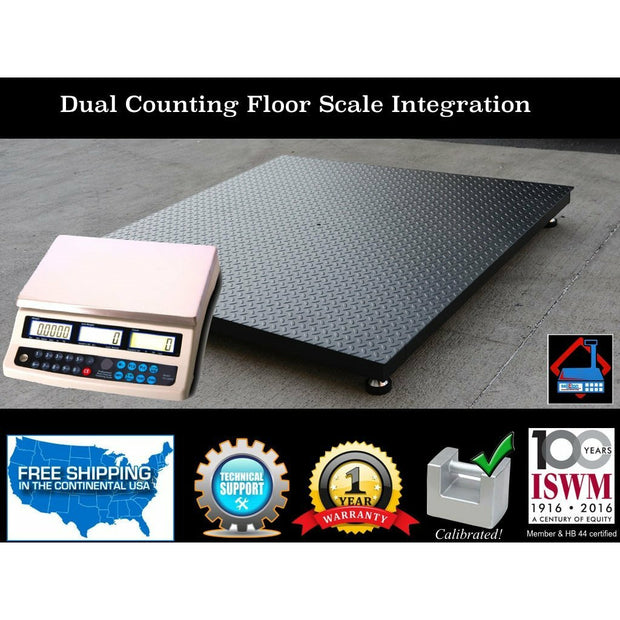 "NEW 5'x5' (60""x60"") Dual counting Floor Scale 