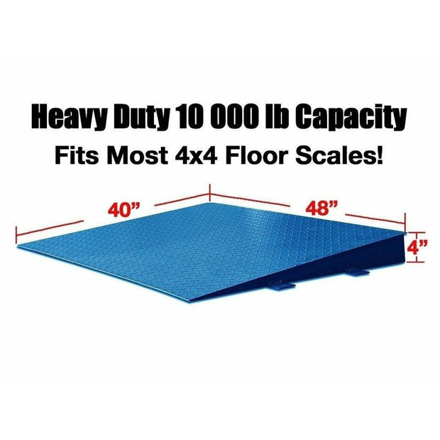 "OP-750-4x4 10000lb 48""x40"" Steel Ramp w/ Bolt-down Holes Fits Most 4'x4' Floor Scales"