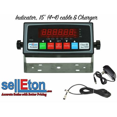 PS-IN202 LED or LCD Scale Indicator with 4+4 Cable package