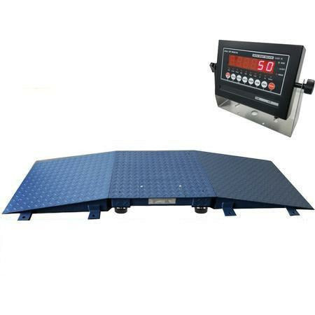 OPTIMA NEW Industrial NTEP Floor Scale 24' x 24' + 2 Ramps 10000 lbs x 2lb /LED display