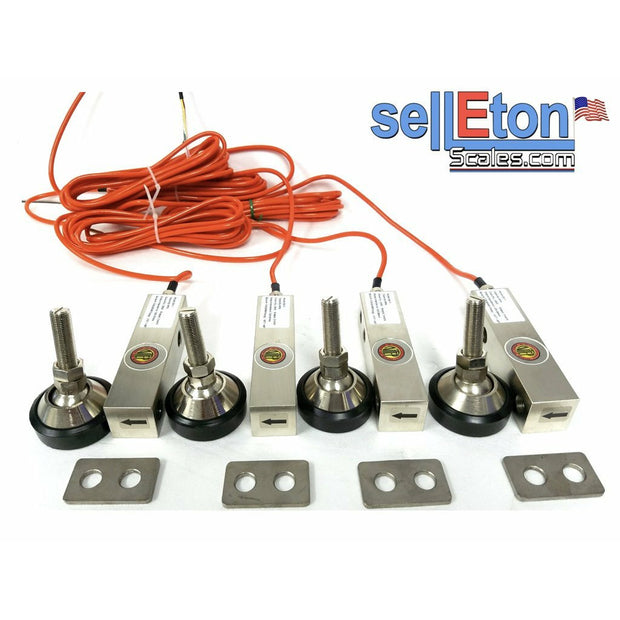 GX-1-4k lb NTEP Shear Beam Load Cell Sensors for Platform Floor Scale with Feet & Spacers - SellEton Scales