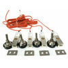 GX-1-4k lb NTEP Shear Beam Load Cell Sensors for Platform Floor Scale with Feet & Spacers