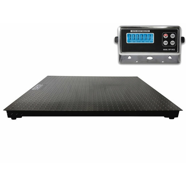 "OPTIMA 60"" x 60"" (5' x 5') Floor Scale / Pallet Size with RS-232 port 10,000 x 1 lb"